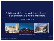 Child Abuse and Post Traumatic Stress Disorder Brain Development ...