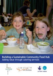 Building a Sustainable Community Food Hub: Adding value through ...