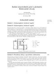 Zadání semestrálních prácí z předmětu Elektronické obvody ...