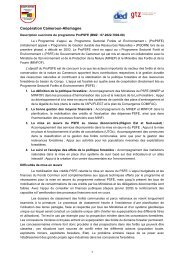 Coopération Cameroun-Allemagne - Programme Sectoriel Forêts et ...