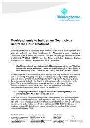 English, PDF (66 KB) - Mühlenchemie GmbH & Co. KG