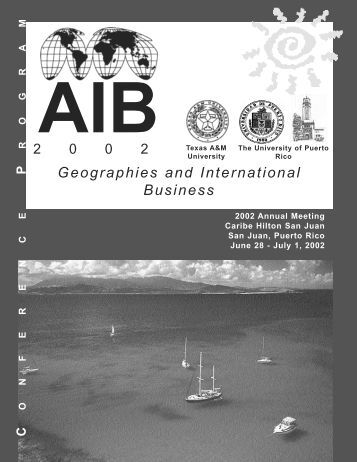 2002 Conference Program - Academy of International Business