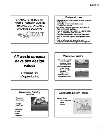 All waste streams have two design values - University of Minnesota
