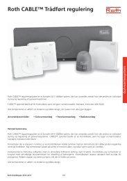 CABLE™ 2012, trådført regulering - Roth