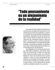 pensamiento es un alejamiento de la realidad - Revista Docencia