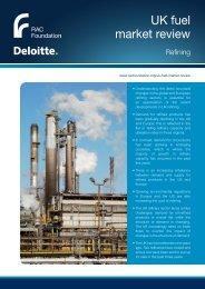 Refineries - Deloitte - RAC Foundation