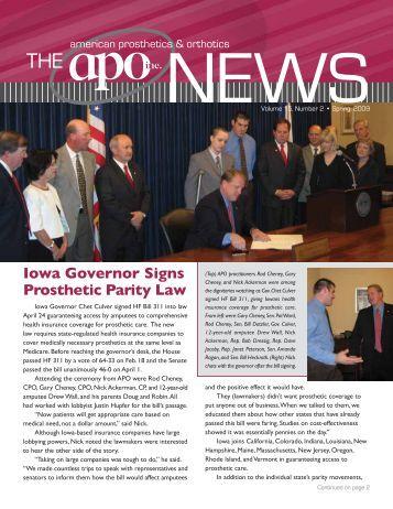 Spring 2009 - American Prosthetics & Orthotics