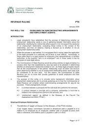 Guidelines on subcontracting arrangements - employee agents