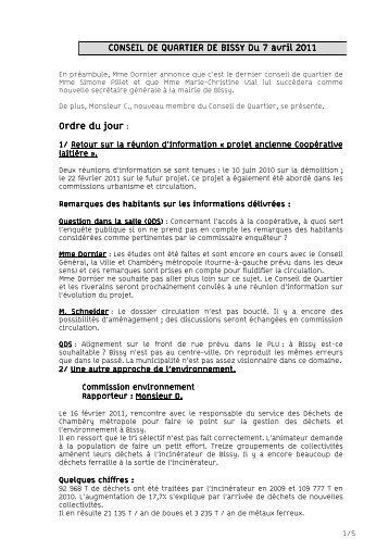 CR du C.Q Bissy 07 04 11 - Ville de Chambéry