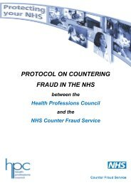 HPC Protocol - NHS Business Services Authority