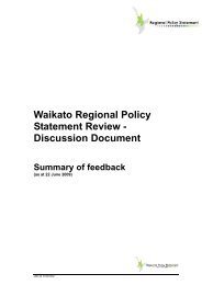 Waikato Regional Policy Statement Review - Discussion Document