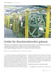 Gefahr für Maschinenbetreiber gebannt - Wieland Electric