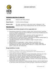 JOB DESCRIPTION - Focus Ireland