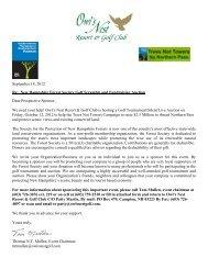 sponsorship form - Owl's Nest Resort & Golf Club