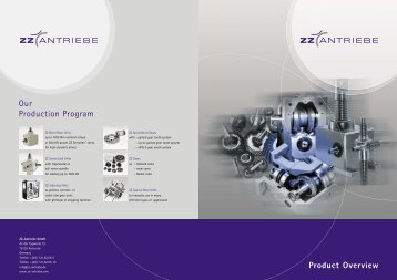 Product Overview Our Production Program - ZZ-Antriebe  GmbH