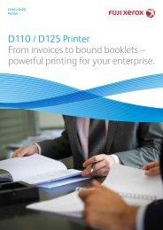 D110/D125 Printer - Fuji Xerox Malaysia