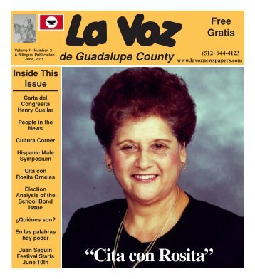 La Voz de Seguin June, 2011 internet.pmd - La Voz Newspapers