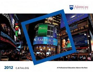 CATALOG - The American College