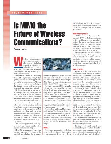 Is MIMO the Future of Wireless Communications? - IEEE Xplore