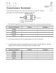 Transformers Worksheet