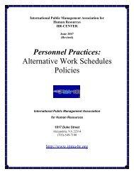 Alternative Work Schedules Policies - International Personnel ...