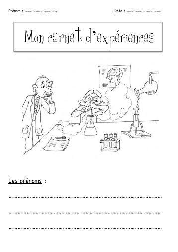 Mon carnet d'expériences - Enseignons.be