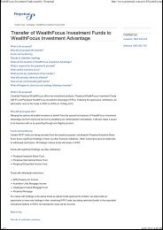 WealthFocus Investment Funds transfer   Perpetual
