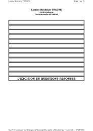 L'EXCISION EN QUESTIONS-REPONSES - Intact-network.net