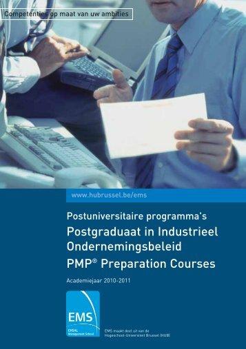 Postgraduaat in Industrieel Ondernemingsbeleid ... - HUBRUSSEL.net
