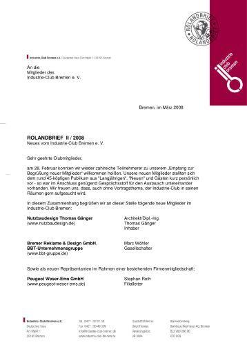 Rolandbrief II/2008 - Industrie-Club-Bremen