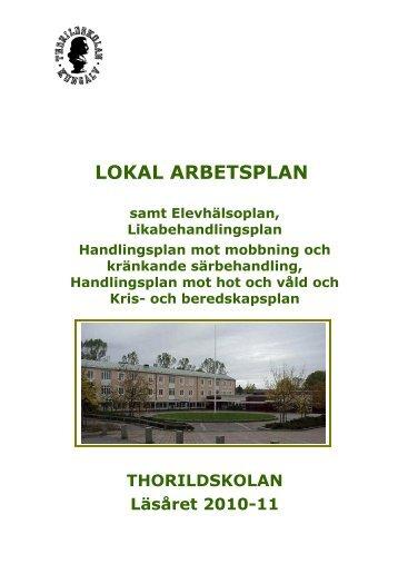 Thorildskolans vision och mål - Kungälv