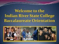Bachelor's Degrees at IRSC - Indian River State College