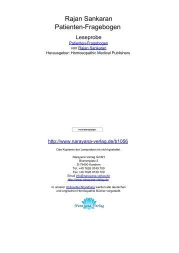 Rajan Sankaran Patienten-Fragebogen