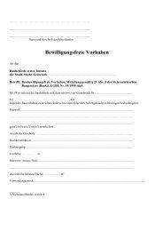 Bewilligungsfreie Bauvorhaben - Mellach