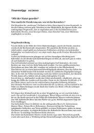 """Tourentipp_10/2010: """"Mit der Natur geerdet"""" als PDF-Download"""