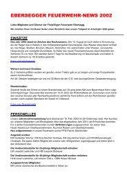 Ebersegger Feuerwehr-News - Seniorenbund Steyr Land