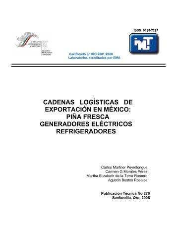 cadenas logísticas de exportación en méxico - Instituto Mexicano ...