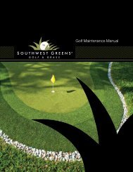 Southwest Greens Golf Greens Maintenance Manual (PDF)