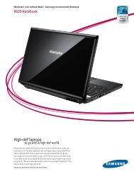 High-def laptops R620 Notebook - Samsung