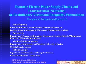 Dynamic Electric Power Supply Chains and Transportation Networks