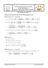 Resolver os exercícios 181, 182, 184, 185 e 186 das páginas 72 e 73.
