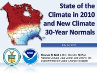 Capitol Hill briefing - National Climatic Data Center - NOAA