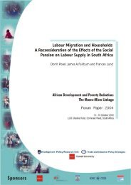 Labour Migration and Households: A Reconsideration of the ... - tips