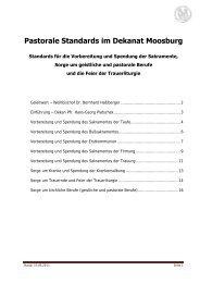 Pastorale Standards im Dekanat Moosburg - Sankt Kastulus Moosburg