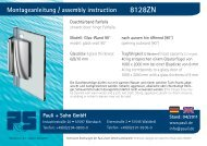 Montageanleitungen Farfalla 8128, G-W 90° (PDF 3.4 MB) - Pauli