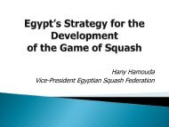 Egyptian Player Development Programme - World Squash Federation