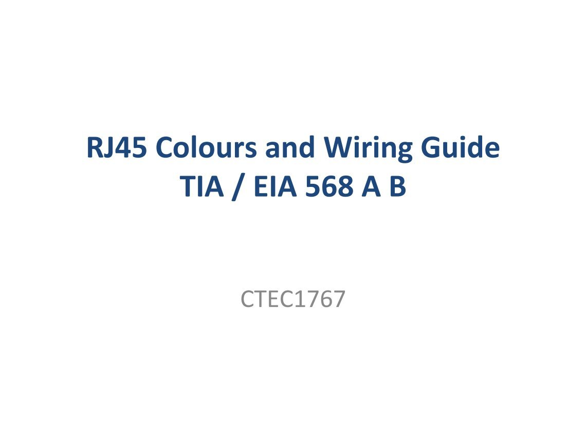 Rj45 Colors And Wiring Guide Diagram Tia Eia 568 A B Electrical Doc Plus Usa Wire