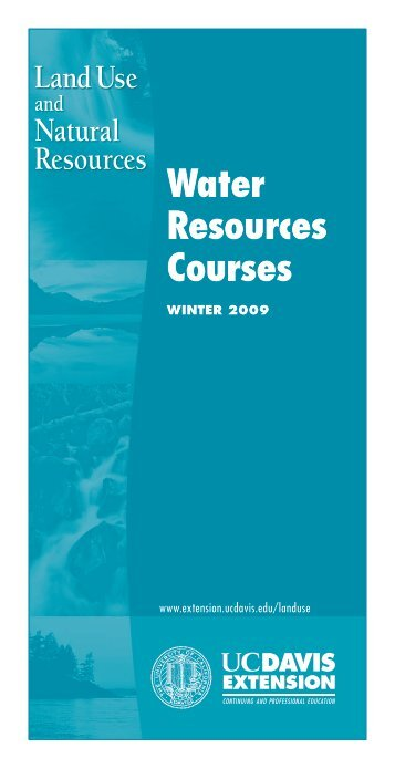 Water resources Courses - UC Davis Extension