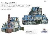 Bastelbogen 605b, H0 Erweiterungsset für alte Werkstatt - Projekt ...