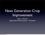 Peter L. Morrell Agronomy & Plant Genetics - Minnesota - SoyBase